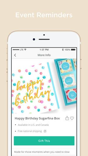 A photo of Giftagram, best mobile app designs of 2018