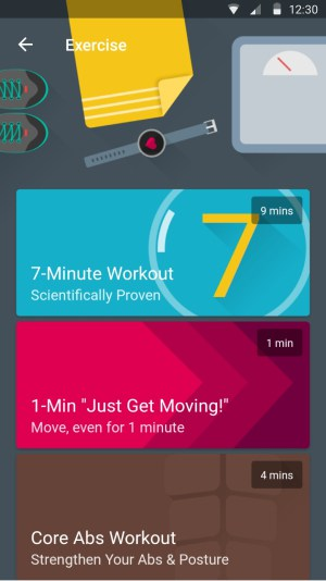 A screenshot of the Fabulous app designed for exercise motivation.