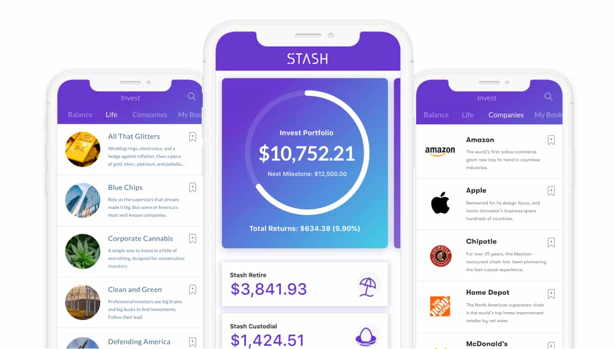 A photo of Stash, Top 5 Mobile App Designs of March 2019