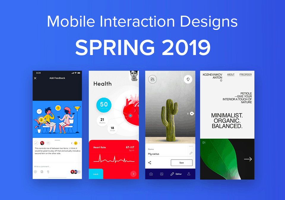 Top 5 Mobile Interaction Designs of Spring 2019