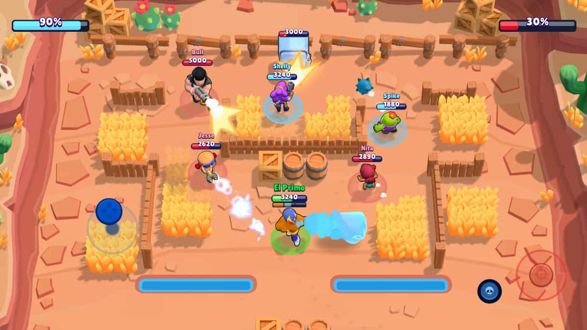 A screenshot from the mobile game Brawl Stars.