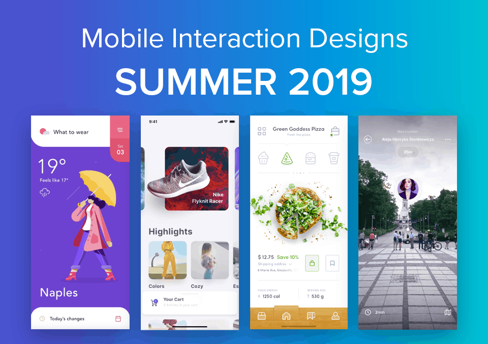 Top 5 Mobile Interaction Designs of Summer 2019