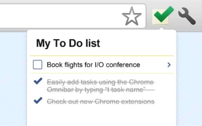 A screenshot from Google Tasks displaying two completed tasks and one outstanding.