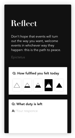 A photo of Stoic., Top 5 Mobile App Designs of August 2019