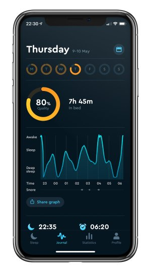 A photo of Sleep Cycle, Top 5 Mobile App Designs of September 2019