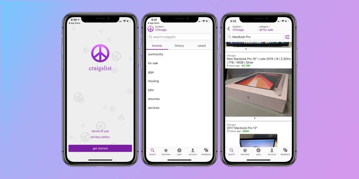 A photo of craigslist, Top 5 Mobile App Designs of December 201