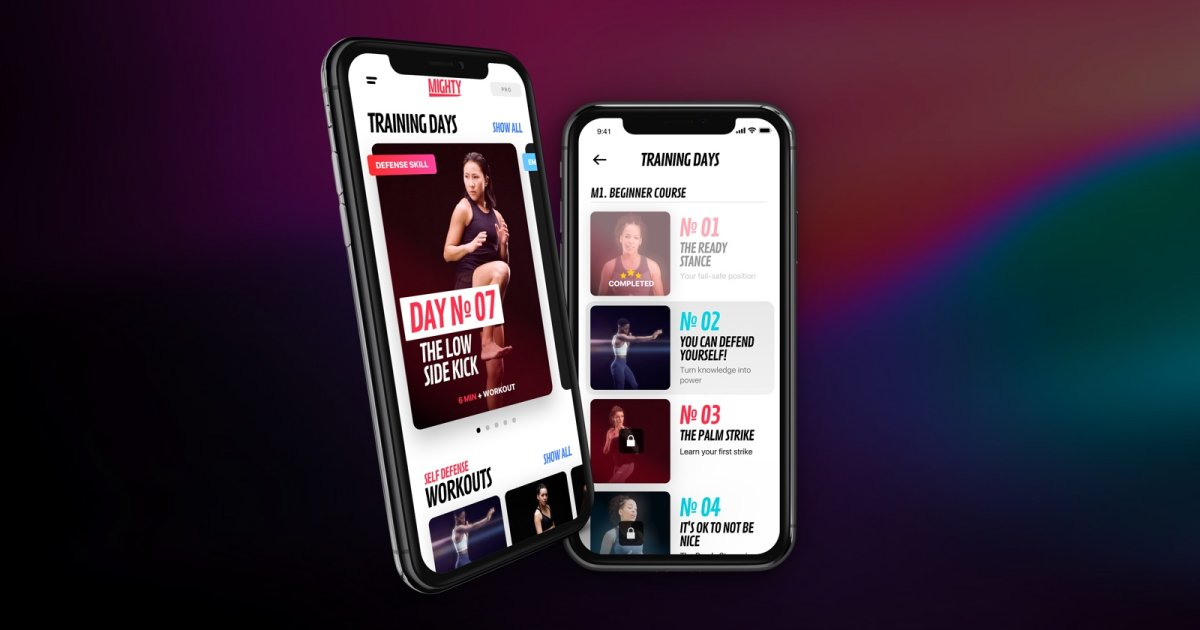 A photo of Mighty, Top Mobile App Designs of 2019