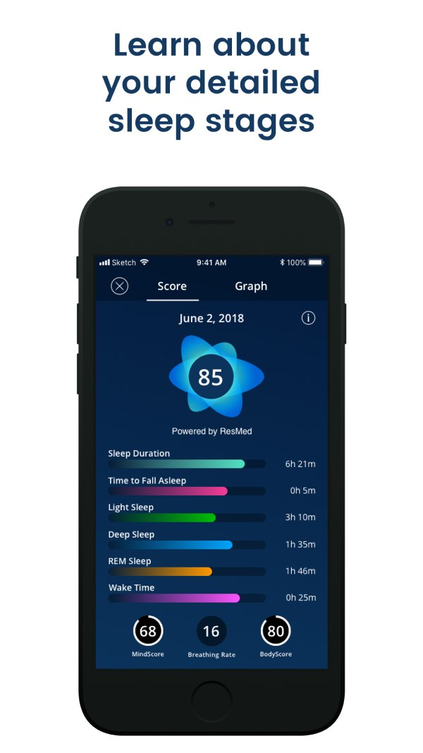 A photo of SleepScore, Top 5 Mobile App Designs of January 2020