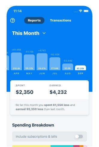 A photo of Truebill, Top Mobile App Designs of 2019