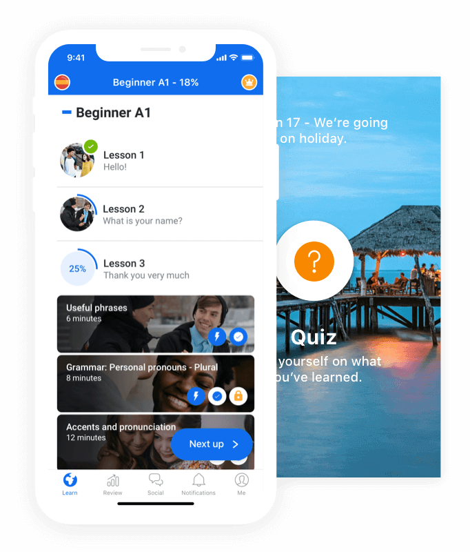 A photo of Busuu, Top 5 Mobile App Designs of February 2020