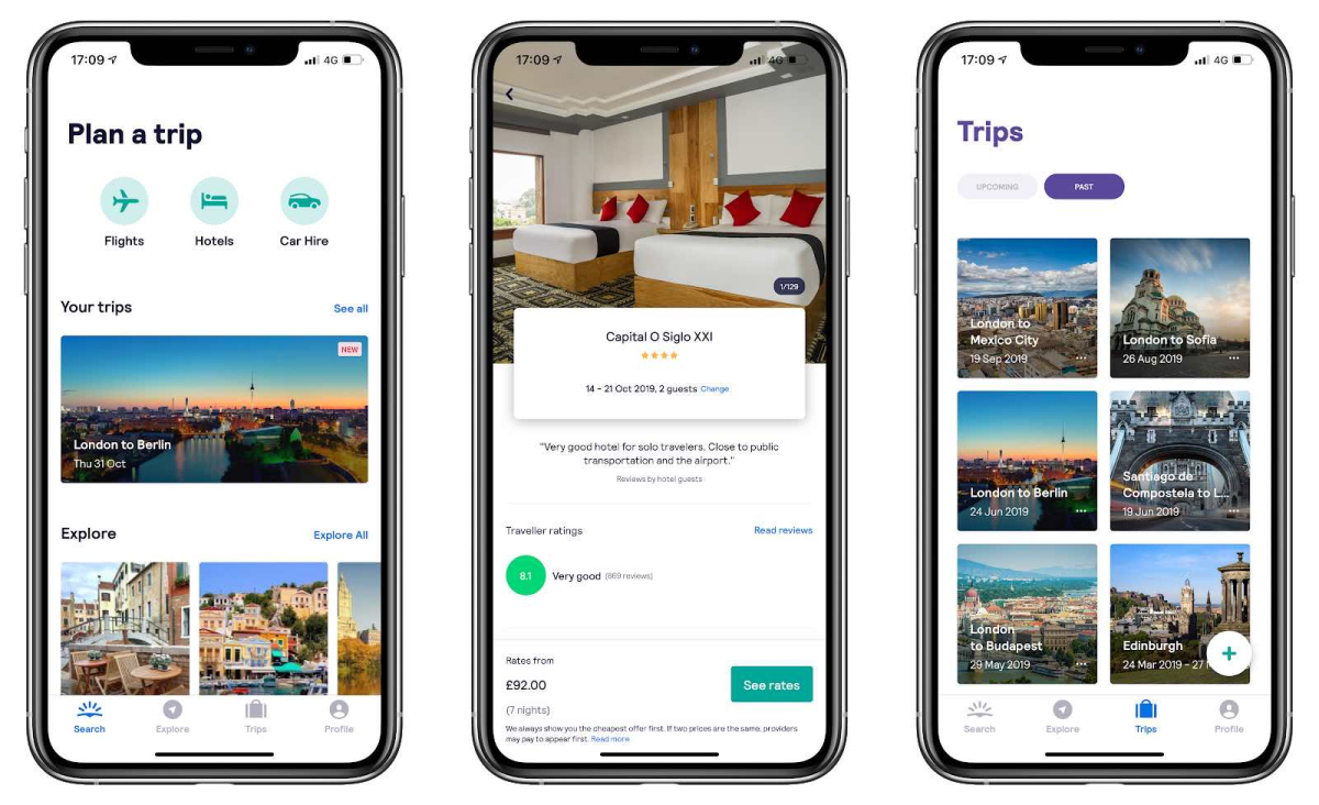 A photo of Skyscanner, Top 5 Mobile App Designs of February 2020