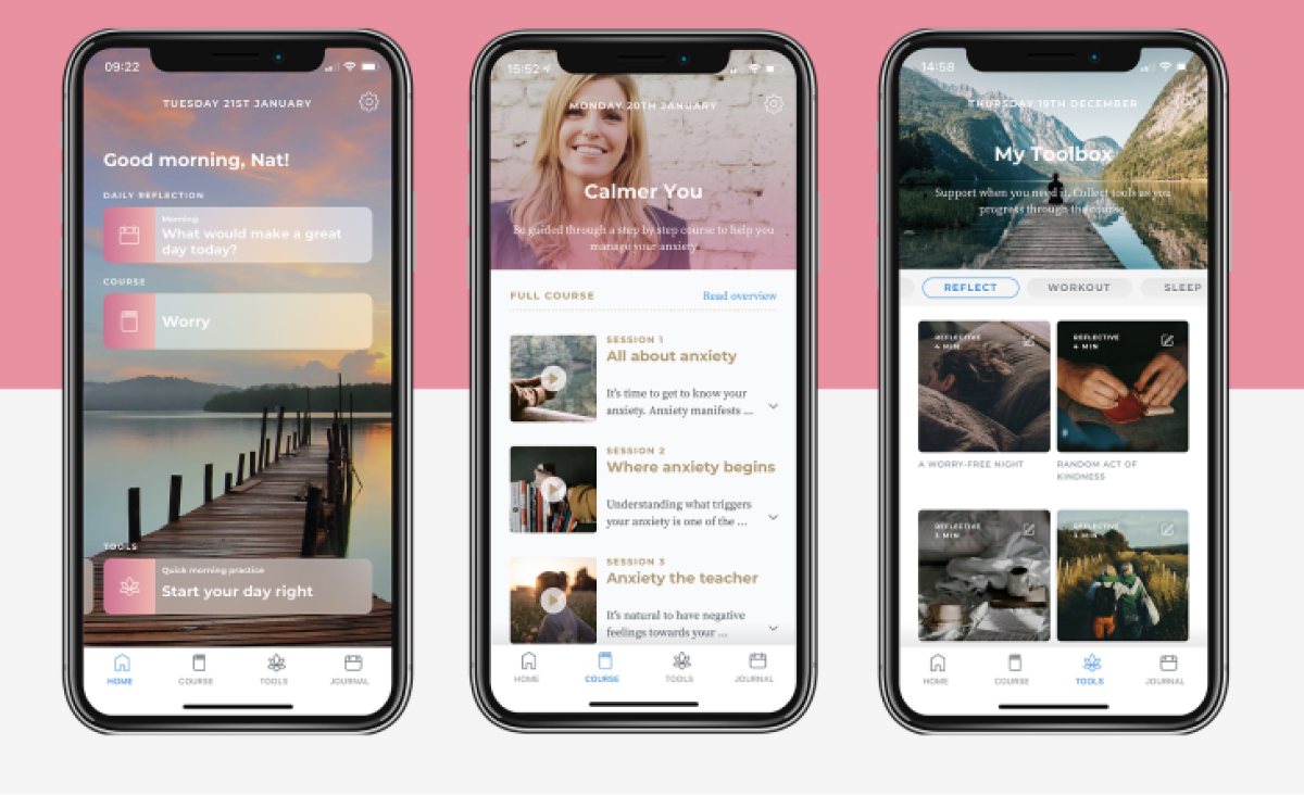 A photo of Calmer You, Top 5 Mobile App Designs of March 2020