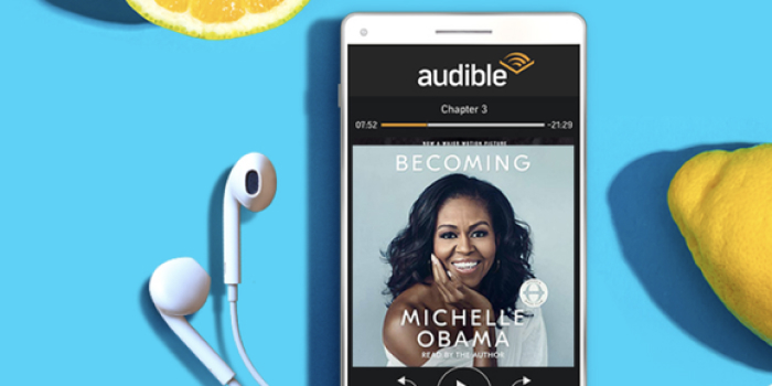 A photo of Audible, Top 5 Mobile App Designs of Fall 2020