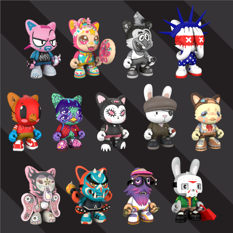 Superplastic's latest art toy line, Janky Series Three.