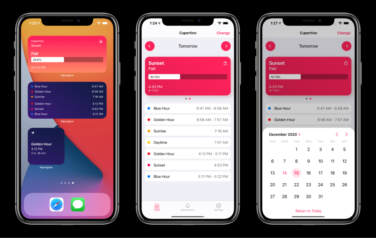 A photo of Alpenglow, Top 5 Mobile App Designs of Fall 2021