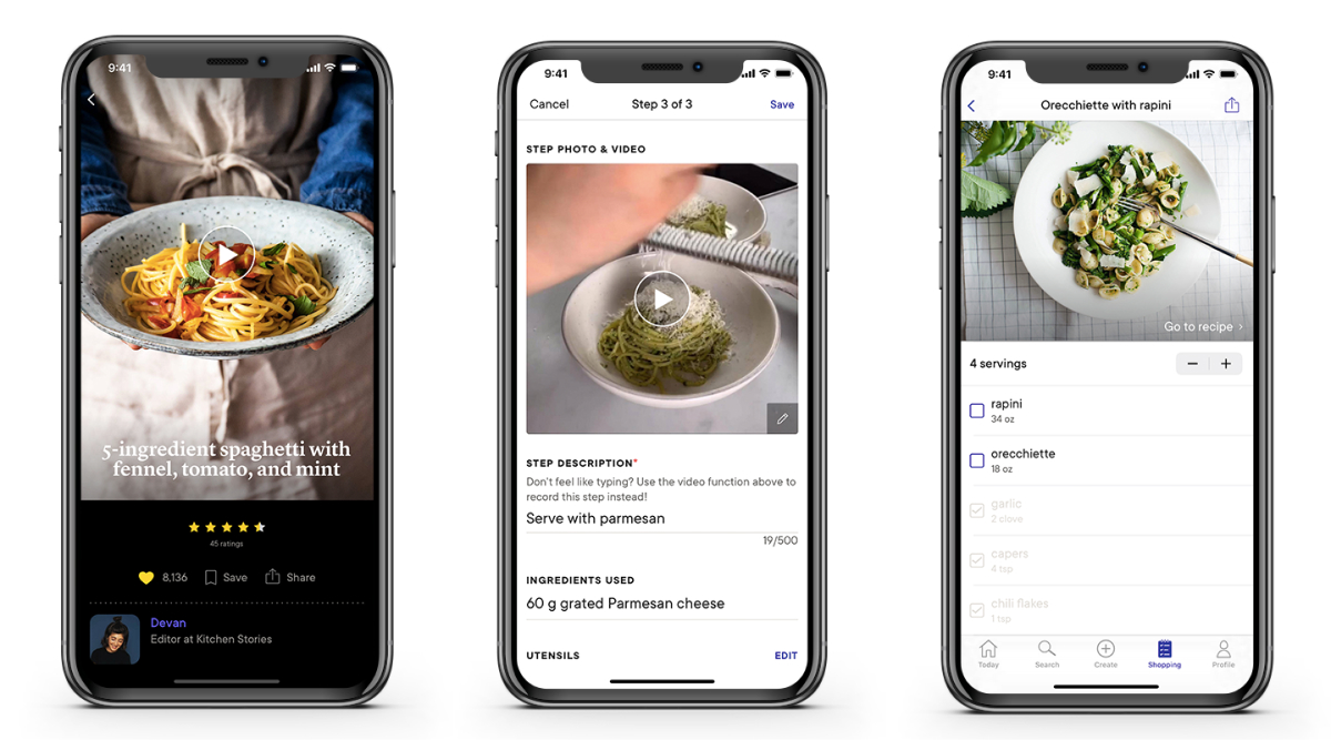 A photo of Kitchen Stories, Top 5 Mobile App Designs of Fall 2021